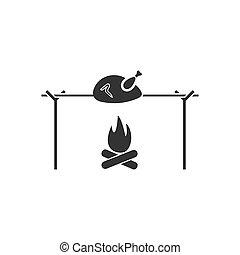 fémtű, csirke icon, lakás