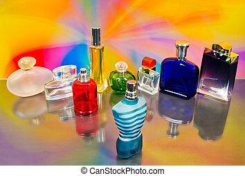 fényűzés, palack, illatszer, állhatatos