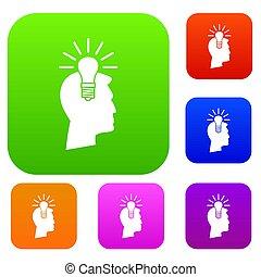 fény, állhatatos, gondolat, gyűjtés, gumó