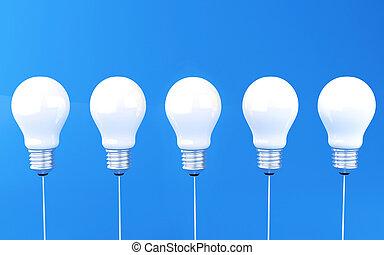 fény, 3, bulbs., evez