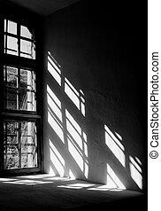 fény, ablak, bástya