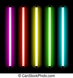 fény, cső, neon