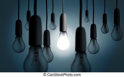 fény, egy, irodalom, gumó, feláll