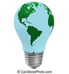 fény, elektromos, gumó