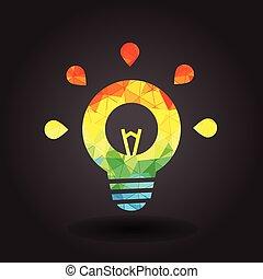 fény, elvont, ábra, gumó