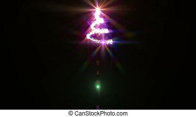 fény, elvont, fa, karácsony