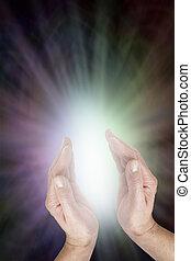 fény, energia, isteni, érzék, gyógyulás