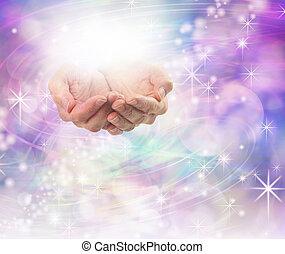 fény, energia, isteni, gyógyulás