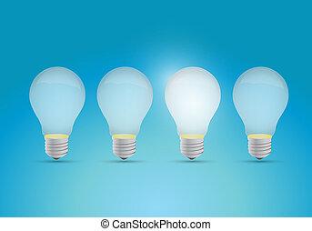 fény, gondolat, evez, fogalom, gumók
