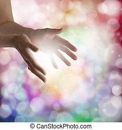 fény, gyógyulás kezezés