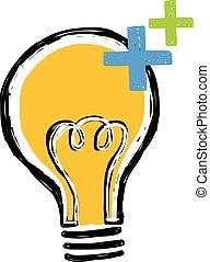 fény, hivatal, elektromos, gumó