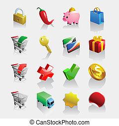 fény, iconset, e-commerce
