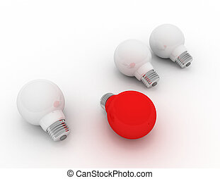 fény, különböző, gondolat, piros, gumó