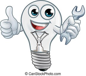 fény, karikatúra, gumó, kabala, lightbulb, betű
