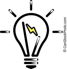 fény, lámpa, gumó