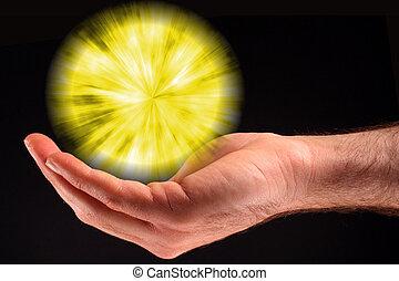 fény, labda, sárga