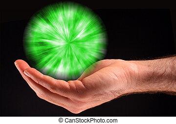 fény, labda, zöld