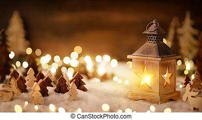 fény, meleg, világító, színhely, karácsony