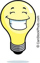 fény, mosolygós, gumó