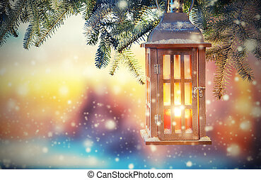 fény, napnyugta, karácsony, világító