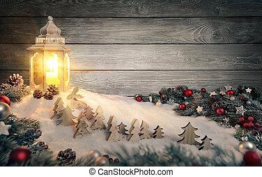 fény, színhely, meleg, gyertya, karácsony, világító