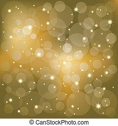 fény, szikrázó, csillaggal díszít, háttér