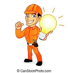 fény, villanyszerelő, birtok, gumó