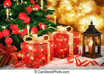 fényes, christmas táj