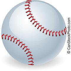 fényes, labda, baseball, ábra