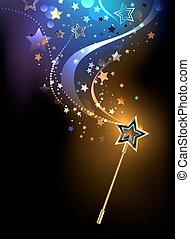 fényes, varázslatos wand