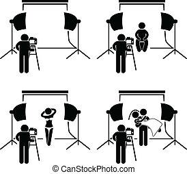fényképész, photography studio, sho