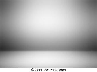 fényképész, világos, műterem, üres, háttér.