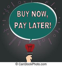 fénykép, gondolat, ovális, ruhanemű, írás, jegyzet, megbukott, beszéd, felül, idő, buborék, megvesz, ügy, kiállítás, után, törött, gumó, jelenleg, fizetés, vásárlás, megvásárol, later., hitel, kiegyenlít, showcasing, icon.