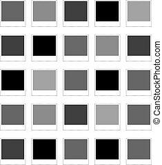 fénykép keret, polaroid, elszigetelt, háttér, fehér