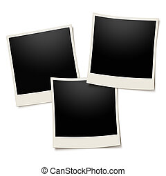 fénykép keret, polaroid, fehér