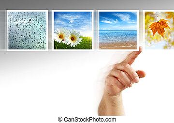 fénykép, touchscreen