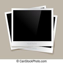 fénykép, vektor, üres, ábra