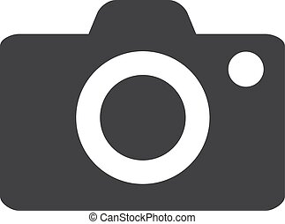 fényképezőgép, ábra, háttér., vektor, fekete, fehér, ikon