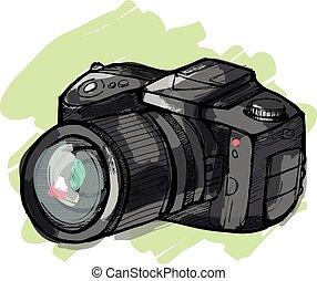 fényképezőgép, b betű, visszfény