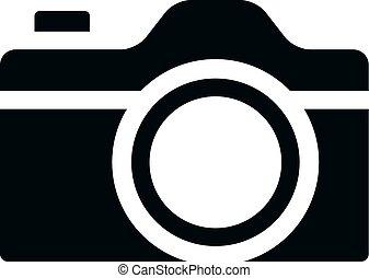 fényképezőgép, -, bw, ikonok