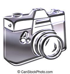 fényképezőgép, ezüst, 3