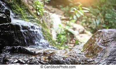 fényképezőgép., természet, eltolódás, összpontosít, vízesés, cserél, háttér, hd., hegy., 1920x1080