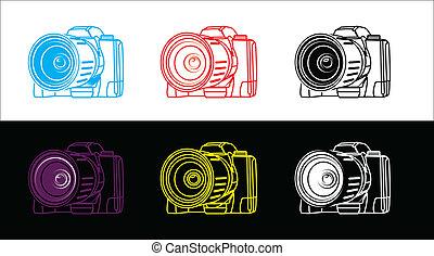 fényképezőgép, visszfény