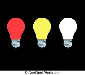 fénylő, lámpa, elektromos