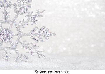 fénylik, hó, hópehely