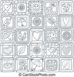 fércmű, geometriai, pattern., mód, seamless