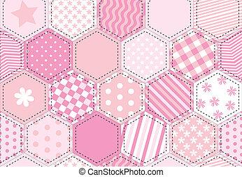 fércmű, rózsaszínű, paplan