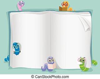 féreg, könyv