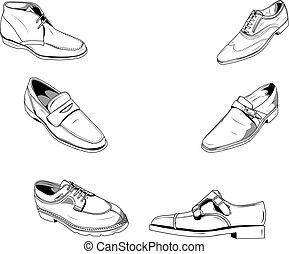 férfiak, cipők, klasszikus