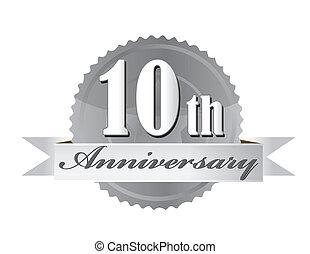 fóka, ábra, évforduló, 10